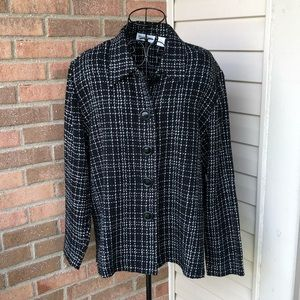 Vintage checked jacket in black and white